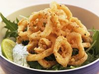 Fried Calamari with Chervil Sauce recipe