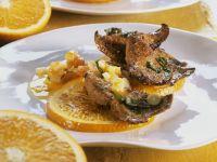 Fried Calf's Liver with Oranges recipe