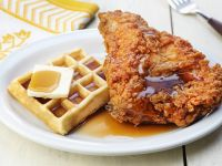 Fried Chicken with Waffle and Syrup recipe