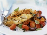 Fried Cod with Tomatoes recipe