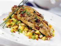 Fried Cod with Vegetable Salad recipe