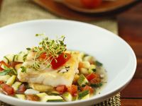 Fried Cod with Vegetables recipe