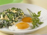 Fried Eggs with Creamed Swiss Chard recipe