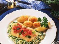 Fried Fish on Savoy Cabbage recipe