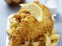 Fried Fish with Fries recipe