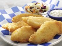 Fried Fish with Tartar Sauce and Coleslaw recipe