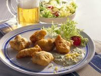 Fried Fish with Tartar Sauce and Salad recipe