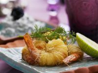 Fried Glass Noodle-Wrapped Prawns recipe