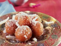Fried Gulab Jamun with Coconut recipe