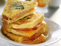 Fried Ham and Egg Sandwiches recipe