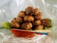 Fried Meatballs with Feta Cheese recipe