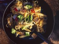 Fried Mie Noodles with Tofu and Vegetables recipe