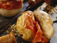 Fried Mushrooms with Ham
