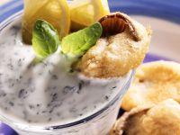 Fried Oyster Mushrooms with Herb Yogurt recipe
