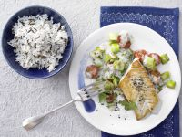 Fried Pollock and Wild Rice recipe