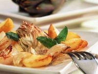 Fried Potatoes and Artichokes recipe