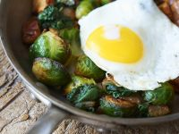 Fried Potatoes, Eggs and Sprouts recipe