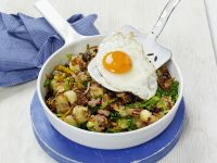Fried Potatoes with Bacon and Fried Egg recipe