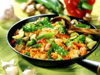 Fried Rice with Mixed Vegetables recipe