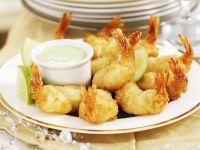 Fried Shrimps with Wasabi Cream recipe