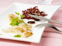 Fried Sole with Radicchio Salad recipe