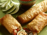 Fried Spring Rolls with Shrimp Filling recipe