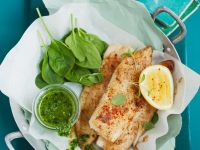Fried Tilapia with Spinach Sauce recipe