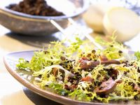 Frisee and Lentil Salad with Chicken Liver recipe