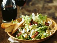 Frisee Lettuce with Cheese and Bacon recipe