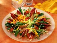 Frisée Salad with Turkey and Mango recipe