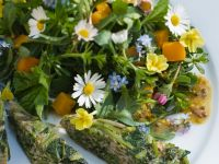 Frittata and Spring Herb Salad recipe