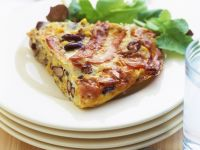 Frittata with Ham and Beans recipe