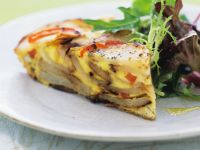 Frittata with Potatoes and Peppers recipe