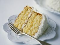 Frosted Coconut and Mascarpone Layer Cake recipe