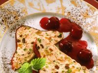 Frozen Cheesecake with Cherry Sauce recipe