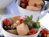 Frozen Chocolate Parfait with Mixed Berries recipe