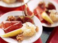 Fruit and Cheese Plate with Bresaola recipe