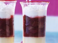 Fruit and Meringue Layered Pudding recipe
