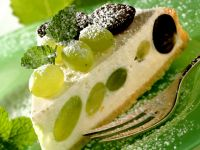 Fruit and Soft Cheese Cake Slice recipe