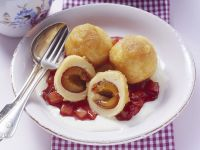 Fruit and Soft Cheese Dumplings recipe