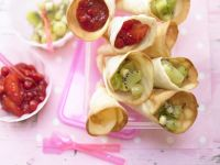 Fruit Cones with Sweet Fillings recipe