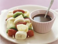 Fruit Kebabs with Dip recipe