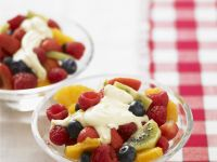 Fruit Salad with Sour Cream Topping recipe