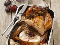 Fruit-Stuffed Roast Chicken recipe