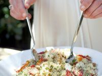 Summertime Grain Salad with Nuts and Fruit recipe