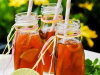 Fruity Iced Tea with Lavender Honey recipe