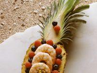 Fruity Rice Salad with Prawns recipe