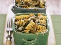 Fusilli and Mushroom Gratin recipe