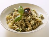 Fusilli with Sardines and Basil recipe