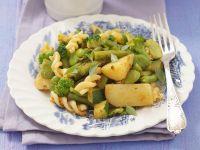 Fusilli with Vegetables and Tomato Pesto recipe